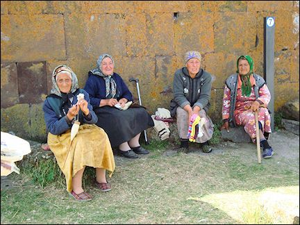old ladies knitting socks